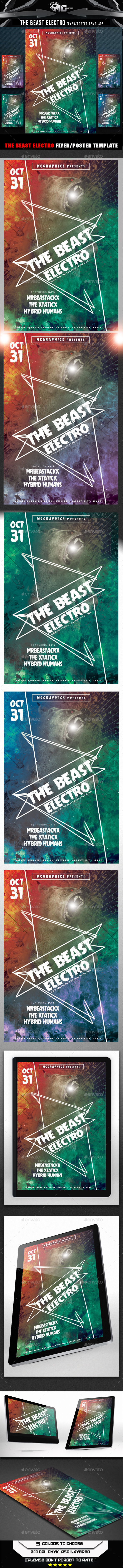 GraphicRiver The Beast Electro Flyer Template 9030885