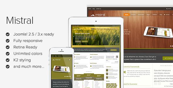 Mistral - Responsive Joomla Template - Screenshot 01 - Mistral Responsive Joomla Template