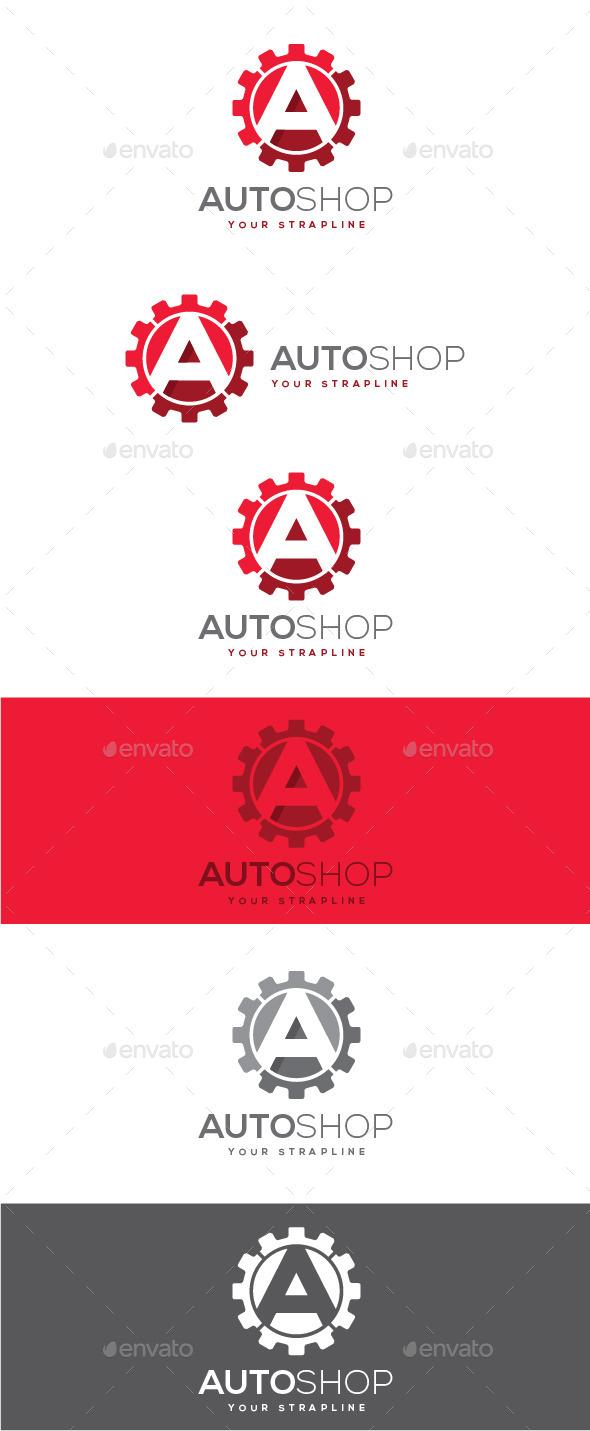 GraphicRiver Auto Shop Letter A Logo 9030886