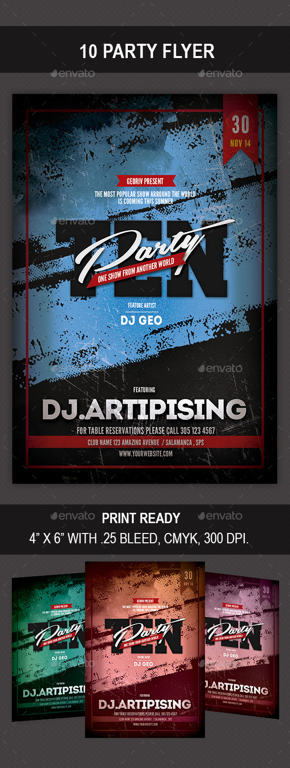 GraphicRiver 10 Party Flyer 9030891