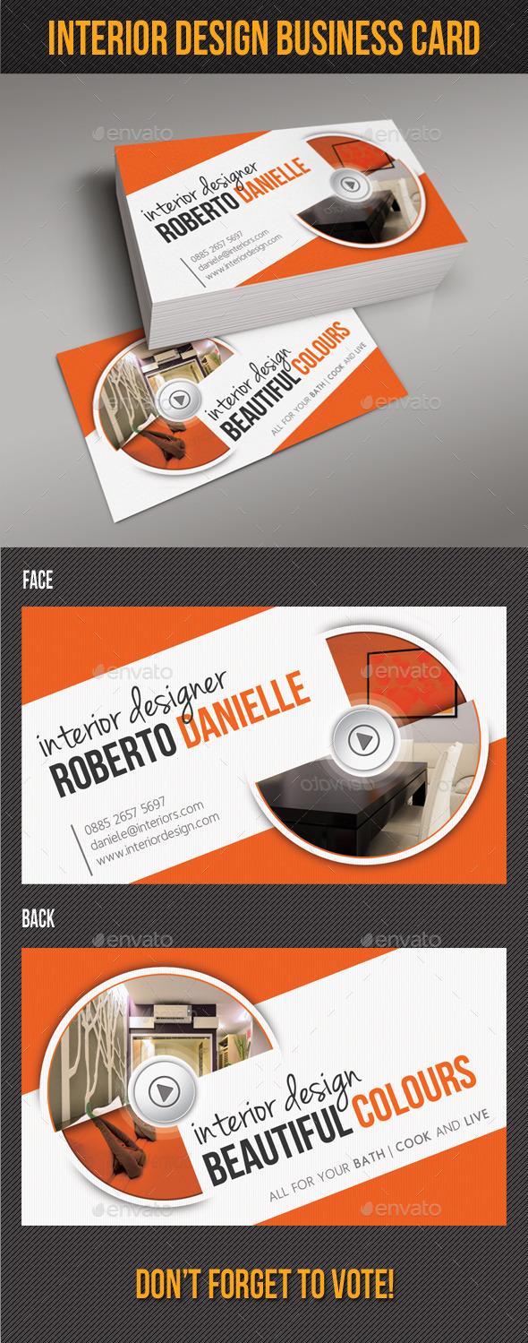 GraphicRiver Interior Design Business Card 9030895