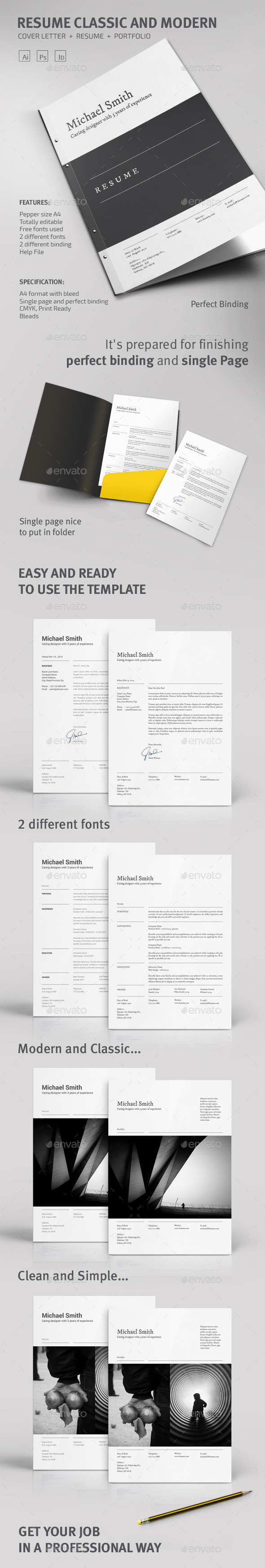 GraphicRiver Resume Classic and Modern 8982645