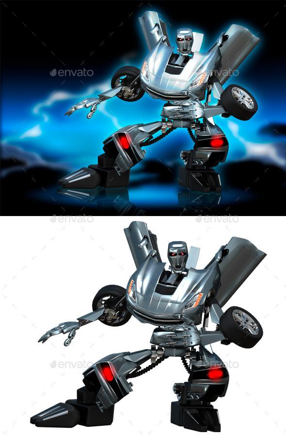 GraphicRiver Robot Transformer 9030901