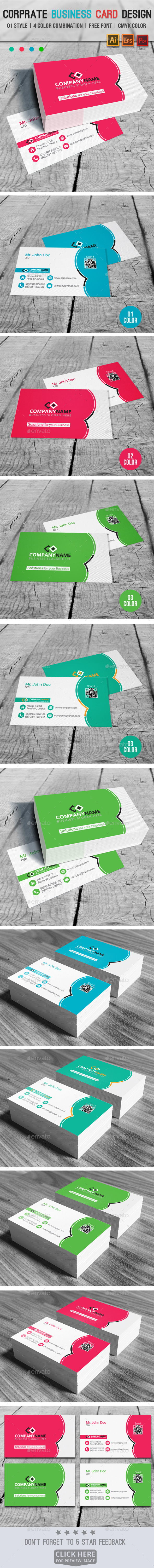 GraphicRiver Corprate Business Card Design V03 9030984