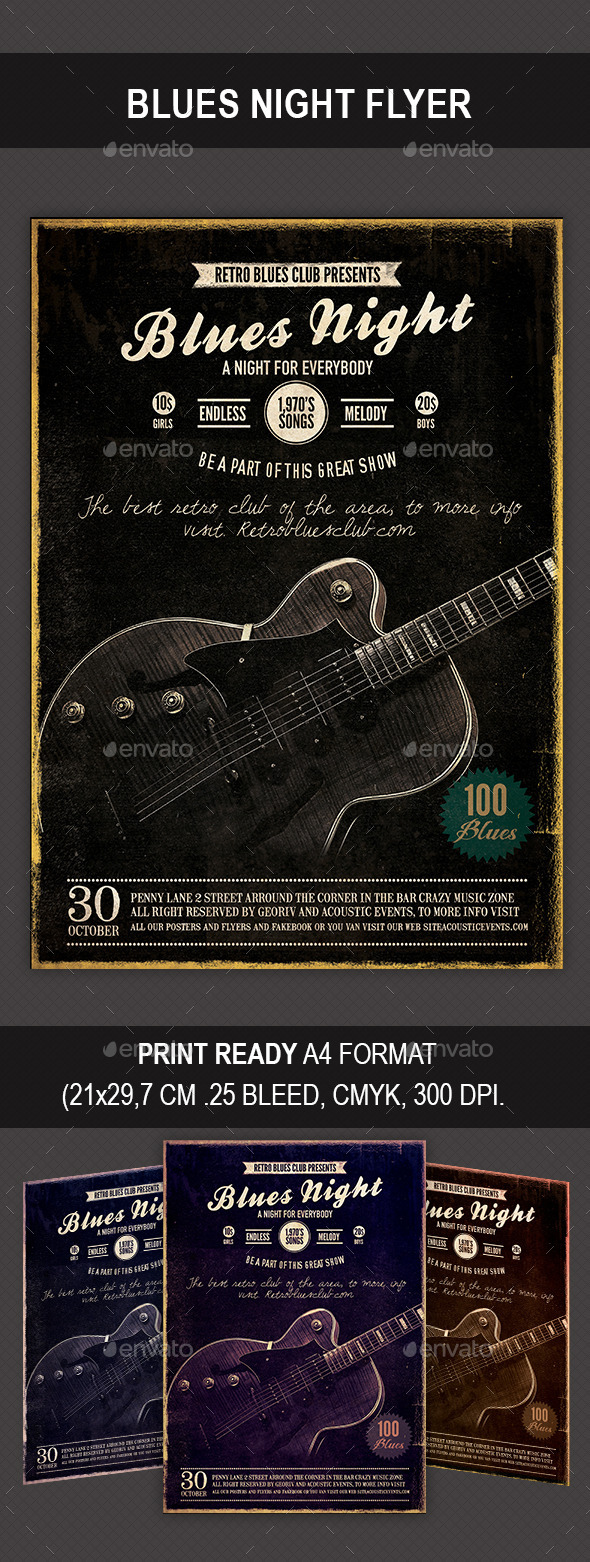 GraphicRiver Blues Night Flyer 9031155