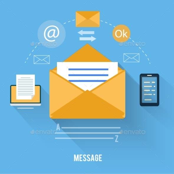 GraphicRiver Envelope with Message and Email Technology 9031353
