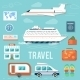 Set of Traveling and Planning a Summer Vacation - GraphicRiver Item for Sale