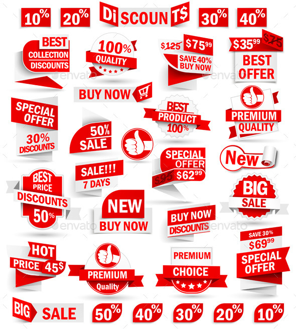 GraphicRiver Set of Stickers and Banners 9031405