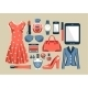 Fashion Set in a Style Flat Design - GraphicRiver Item for Sale