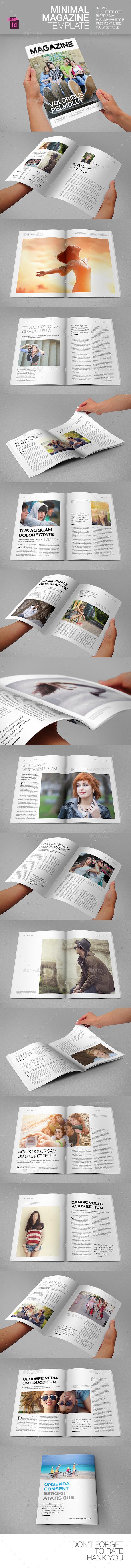 GraphicRiver Minimal Magazine Template 9031451