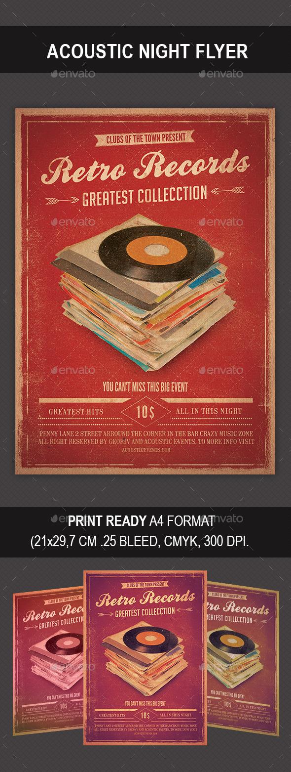 GraphicRiver Retro Records Flyer 9031476