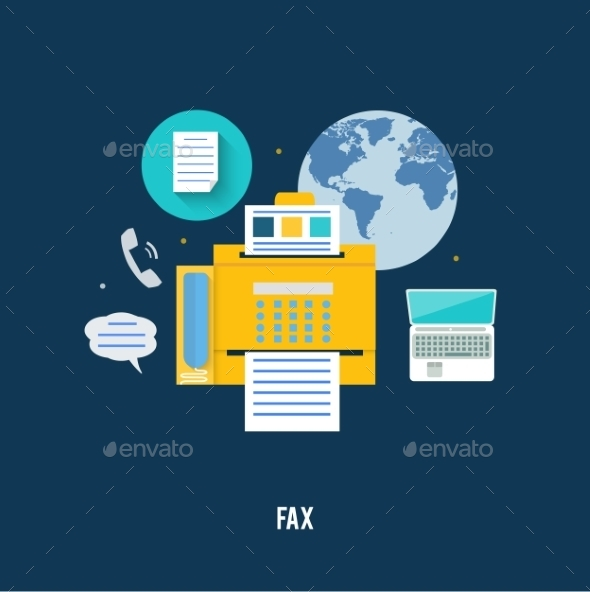 GraphicRiver Fax with Map 9031781