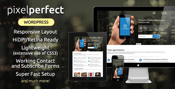 PixelPerfect - Responsive Landing Page WP Theme - Software Technology