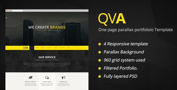 QVA - One Page Multi-purpose WordPress Theme - Portfolio Creative
