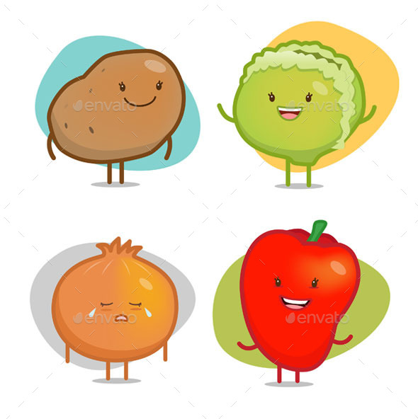 GraphicRiver Vegetable Characters 9031788
