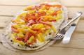 tarte flambee with bell pepper - PhotoDune Item for Sale