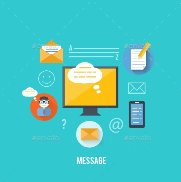 GraphicRiver Concept of Message and Email Technology 9031793