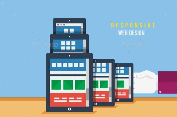 GraphicRiver Responsive Web Design Concept 9031975