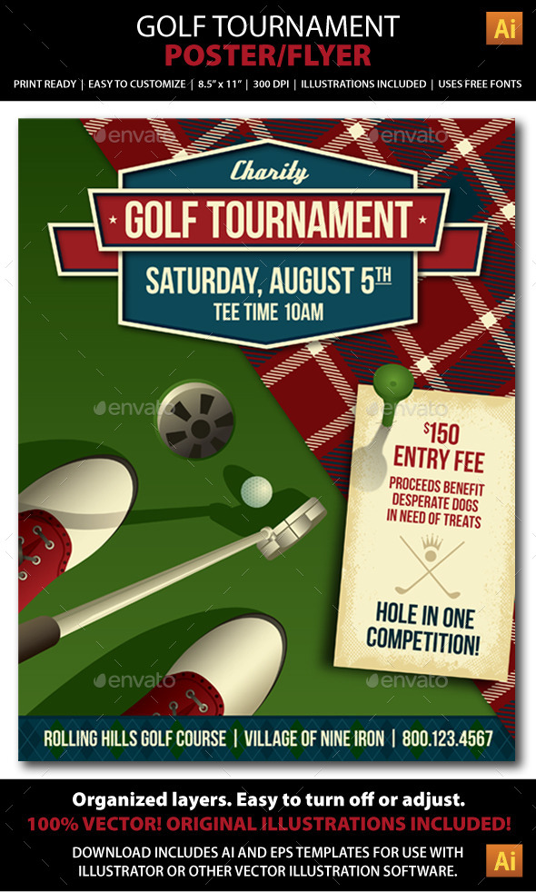 GraphicRiver Golf Tournament Event Poster or Flyer 9031976