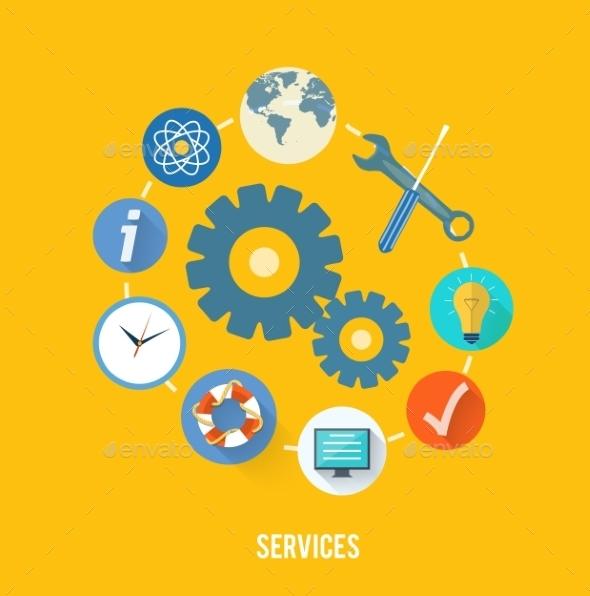 GraphicRiver Service Concept 9031978