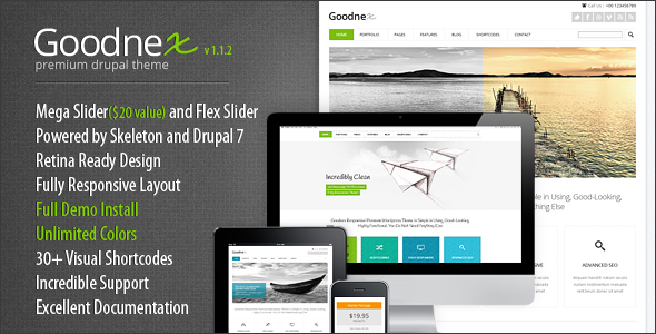 Goodnex - Responsive Drupal 7 Theme - Corporate Drupal