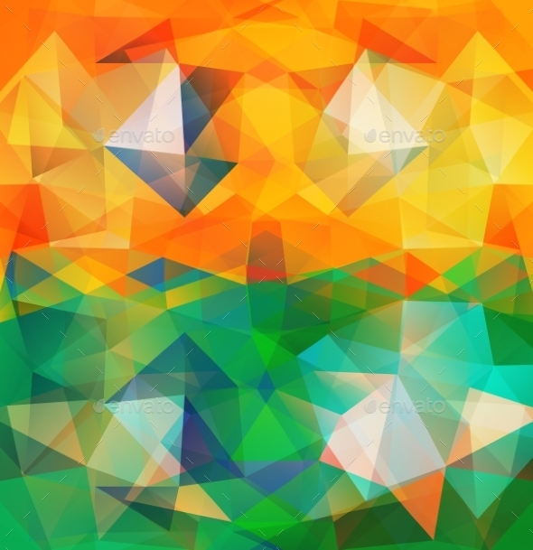 GraphicRiver Triangle Background Colorful Polygons 9031989