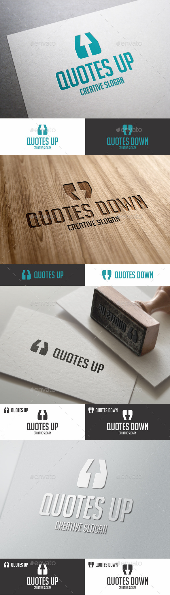 GraphicRiver Quotes Up Down Arrow Logo 9032070