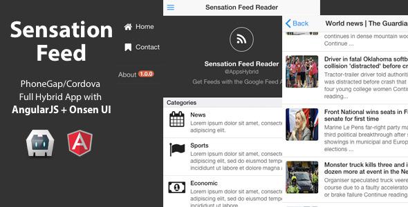 CodeCanyon Sensation Feed PhoneGap Cordova Full Hybrid App 9032098