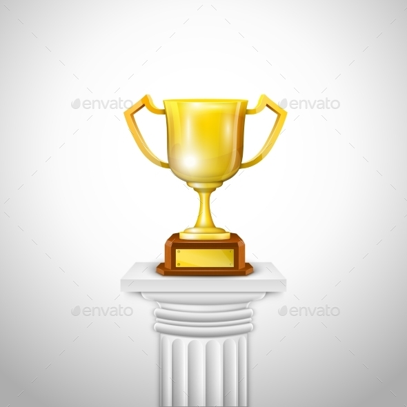 GraphicRiver Ionic Column With Trophy Cup 9032272