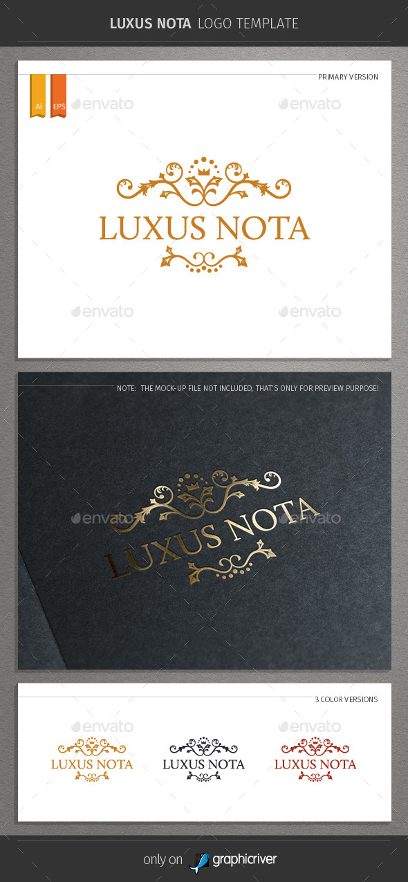 GraphicRiver Luxus Nota Logo 9032338