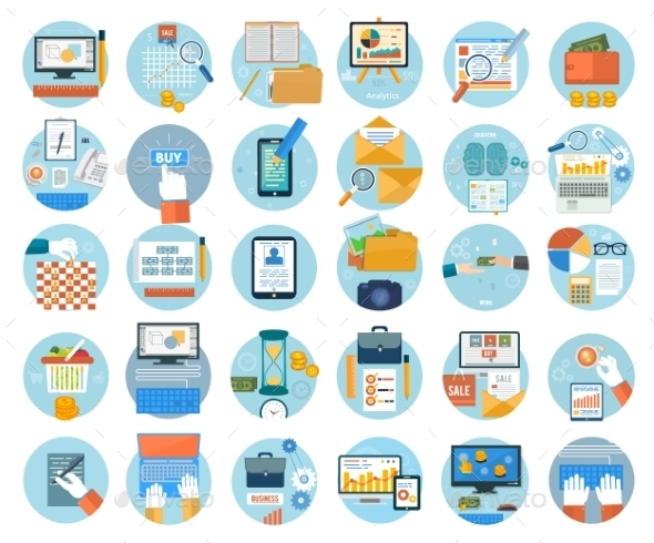 GraphicRiver Business and Marketing Items Icons 9032365