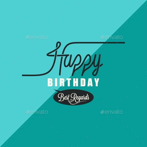 GraphicRiver birthday vintage background 9032562