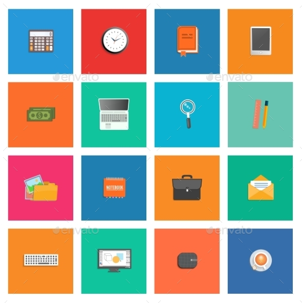 GraphicRiver Set of Various Office Service Icons 9032578