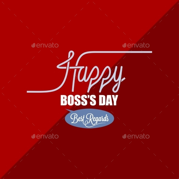 GraphicRiver Boss Day Vintage Background 9032609