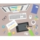 Designer Workplace Top View - GraphicRiver Item for Sale