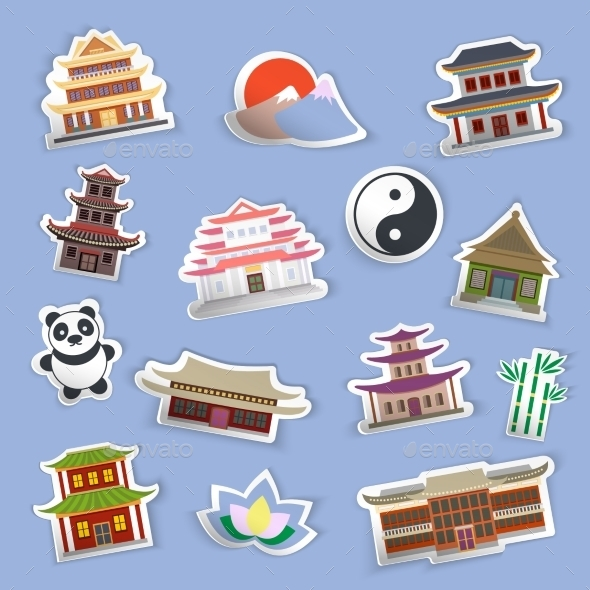 GraphicRiver Chinese House Stickers 9032629