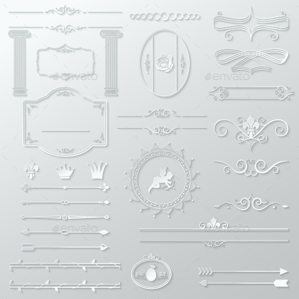 GraphicRiver Ornate Design Elements Paper Set 9032660