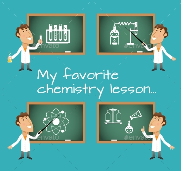 GraphicRiver Chemistry Lesson Chalkboards 9032664