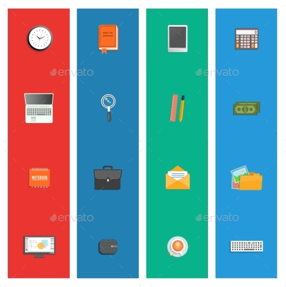 GraphicRiver Set of Various Office Service Icons 9032668