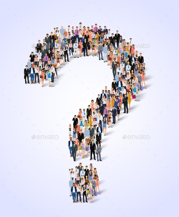 GraphicRiver Group of People Question Poster 9032671