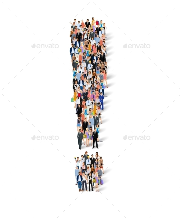 GraphicRiver Group of People Exclamation Poster 9032676