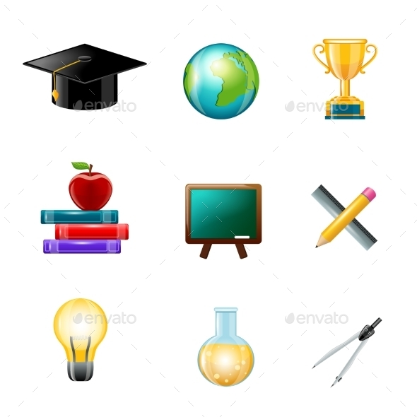 GraphicRiver Education Icons 9032686