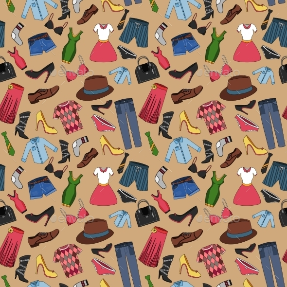 GraphicRiver Clothes Seamless Pattern 9032689