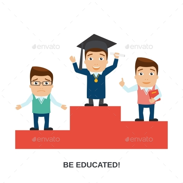 GraphicRiver Education Characters Set 9032768