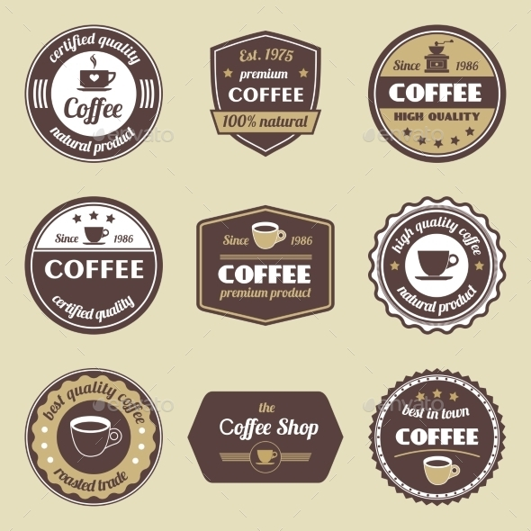 GraphicRiver Coffee Label Set 9032774