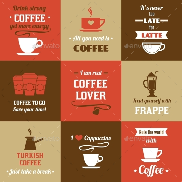 GraphicRiver Coffee Mini Poster Set 9032778