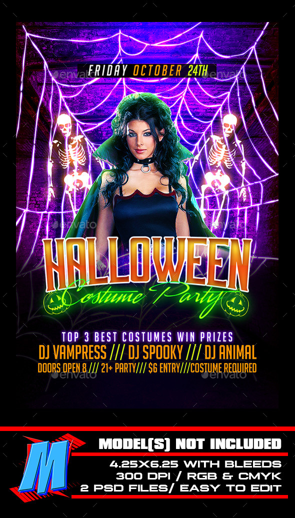 GraphicRiver Halloween Costume Party Flyer Template 9032908