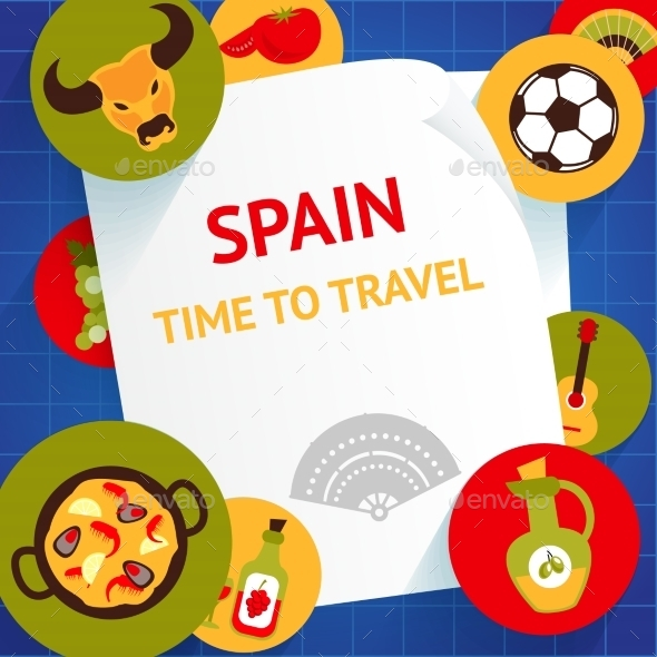 GraphicRiver Spain Background Template 9032977