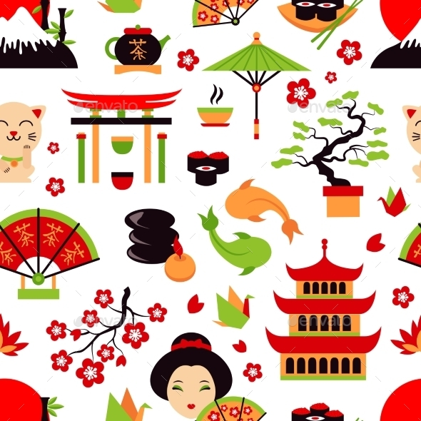 GraphicRiver Japan Seamless Pattern 9032979