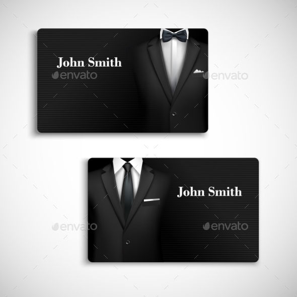 GraphicRiver Businessman Suit Card Set 9032982